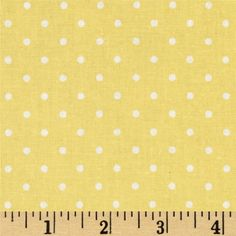 Bon Bon Bebe Polka Dot Yellow from @fabricdotcom  Designed by Robyn Pandolph for RJR Fabrics, this cotton print is perfect for quilting, apparel and home decor accents. Colors include yellow and white.