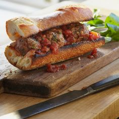 My kind of meatball sub! Lamb Meatballs with Cumin, Mint, and Tomato Sauce | Food & Wine