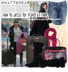 """""""HOW TO DRESS FOR TRAVEL BY PLANE"""" by virgamaleva ❤ liked on Polyvore"""