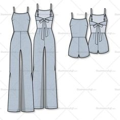 Fashion design sketches 677932550145201518 - Free Fashion Flat Templates + Trim Pack – Courses & Free Tutorials on Adobe Illustrator, Tech Packs & Freelancing for Fashion Designers Wide Leg Jumpsuit/romper Flat Template – Templates for Fashion Source by Dress Design Sketches, Fashion Design Sketches, Fashion Designers, Dress Designs, Diy Clothing, Sewing Clothes, Romper Clothing, Dress Sewing Patterns, Clothing Patterns
