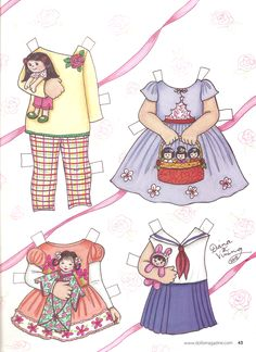Here is a beautiful 2 page paper doll from Dolls magazine, September 2015.  I always ponder subscribing to Dolls Magazine, just for the...