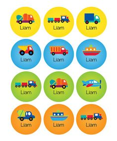 Another great find on #zulily! Transportation Waterproof Personalized Sticker Sheet #zulilyfinds