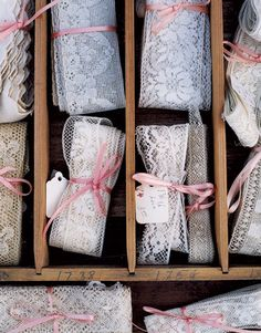 Vintage lace AND ribbon, arggghhh, two of my favourite things in one photo!
