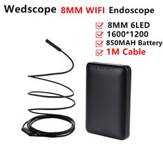 8MM 1M Android Endoscope IOS Iphone Ipad Inspection Camera Ip67 Waterproof Endoscope Camera Android  6 Led PC Wifi Endoscope #Affiliate