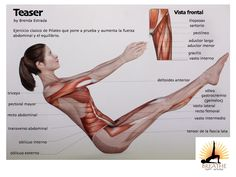 Amazing that one pose incorporates so many muscles...pilates teaser
