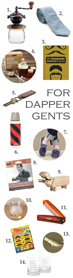 14 Christmas gift ideas for dapper gents in your life!!!
