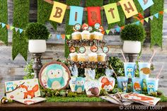 Gather up your forest friends! Cute critters lead the way to all kinds of fun with this magical woodland party.