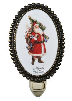 """3.5 Inch W Christmas Father Christmas & Friends Fused Oval Night Light - 3.5 Inch W Christmas Father Christmas & Friends Fused Oval Night Light Theme: VICTORIAN Religious HOLIDAY Product Family: Christmas Father Christmas & Friends Product Type: NOVELTY LAMPS AND ACCESSORIES Product Application: Color: FATHER CHRISTMAS & FRIENDS Bulb Type: CNDL Bulb Quantity: 1 Bulb Wattage: 4 Product Dimensions: 6""""H x 3.5""""WPackage Dimensions: NABoxed Weight: lbsDim Weight: 2 lbsOversized Shipping Reference…"""