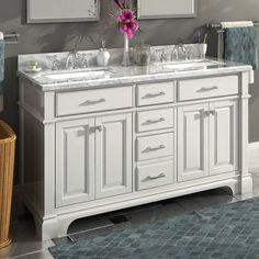 """Nova 60"""" Double Sink Bathroom Vanity Set"""