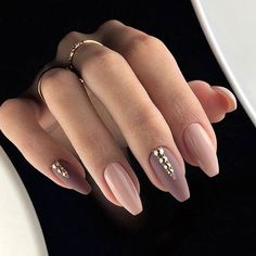 nude & matte mauve with gold accent studs