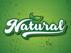 Typography Natural logo by Sofyan Tanjung Packaging Ideas, Packaging Design, Vegetable Delivery, Delivery Food, Food Box, 3d Text, Text Effects, Typography Fonts, Business Branding
