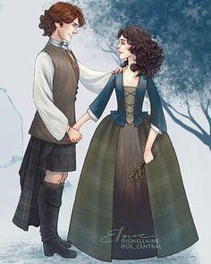 Jamie y Claire Edición de @joaellaine (Twitter) #JamieFraser #ClaireFraser…