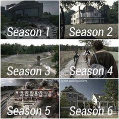 The Walking Dead Locations: Season 1-6, The CDC, The Farm, The Prison, Terminus, and Alexandria