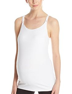Leading Lady Womens Nursing Cami with Built In Bra White Small -- To view further for this item, visit the image link-affiliate link.