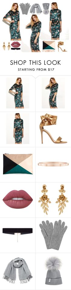 """""""Floral Magic"""" by smileforsierra ❤ liked on Polyvore featuring Gianvito Rossi, Sole Society, Harry Winston, Lime Crime, Oscar de la Renta, 8 Other Reasons, L.K.Bennett and Vero Moda"""