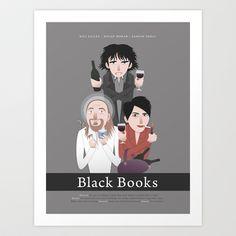 Black Books Art Print by Ellis - $15.00