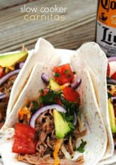 Slow Cooker Carnitas...easy, delicious dinner recipe