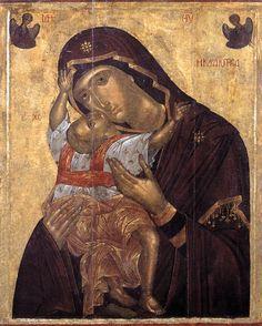 Panagia Kardiotissa/Our Lady of Hearts | Greek orthodox icon | http://peinture.video-du-net.fr/images/icones-celebres/vierge/Kardiotissa_15e.jpg