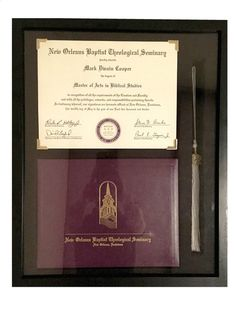 The Ultimate Diploma Frame (Customizable)