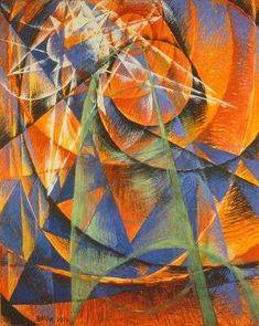 Mercure passant devant le soleil, Giacomo Balla 1914