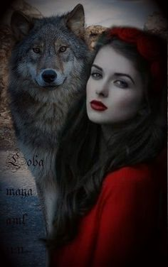 Raven And Wolf, Wolf Love, Wolf Pictures, Fantasy Pictures, Fantasy Wolf, Fantasy Art, Lobos Gif, Watercolor Deer, Wolves And Women