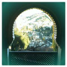 Amanecer en la Alhambra.