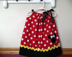 Minnie Mouse Inspired Pillowcase Dress by littlepetuniadesigns