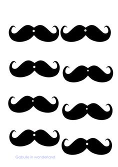 Gabulle in Wonderland: DIY: mustache straws (tutorial and template) Moustaches, Moustache Party, Spy Party, Disco Party, Mustache Template, Anniversaire Cow-boy, Super Mario Birthday, Crafts Beautiful, Father's Day