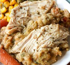 From The Cozy Cook comes this delicious recipe for Crock Pot Chicken and Stuffing. Its twice a delicious as it sounds, and is filled with enough flavor and warmth to satisfy the entire family. (Crockpot Recipes For Kids) Crock Pot Food, Crockpot Dishes, Crock Pot Slow Cooker, Slow Cooker Recipes, Cooking Recipes, Healthy Recipes, Crockpot Meals, Crock Pots, Easy Recipes