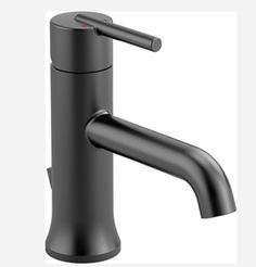 shop Delta 559LF-BLMPU Trinsic Single Handle Lavatory Faucet - Metal Pop-Up in Matte Black - build.ca