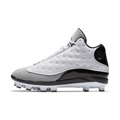 Jordan XIII Retro MCS Men s Baseball Cleat Size 9.5 (White) Jordan Xiii 35d31b8f4b6