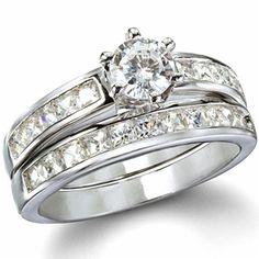 Ginnifer's Traditional Imitation CZ Engagement Ring Set