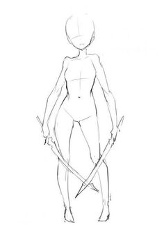 Ideas Drawing Poses Anime Deviantart For 2019 Drawing Base, Manga Drawing, Figure Drawing, Drawing Sketches, Cool Drawings, Drawing Tips, Drawing Ideas, Body Sketches, Sword Drawing