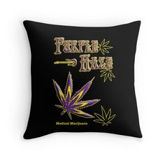 """Purple Haze Medical Marijuana"" Throw Pillows by Samuel Sheats 