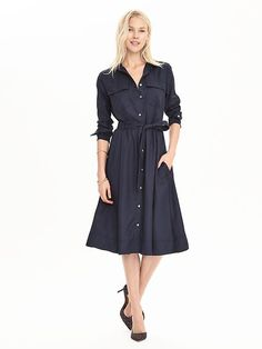 This would be cute paired with some red pumps or a red clutch. Midi Shirtdress