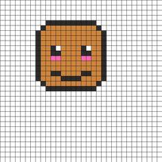 Kawaii Potato Perler Bead Pattern / Bead Sprite