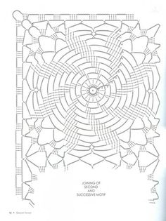 Photo from album Crochet Bedspread Pattern, Crochet Motif Patterns, Crochet Diagram, Crochet Chart, Filet Crochet, Irish Crochet, Crochet Stitches, Crochet Round, Crochet Squares