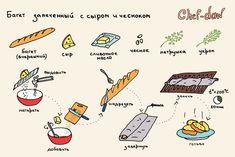 Багет запеченный с сыром и чесноком