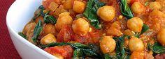 Curry de grão de bico com tofu defumado