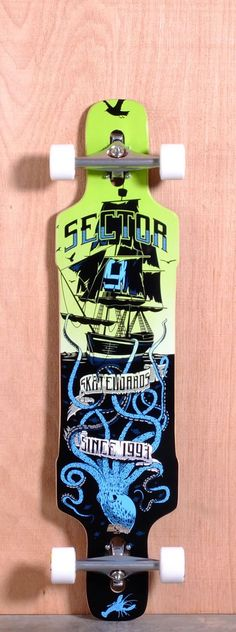 "Sector 9 Prebuilt 42"" Dropper Blue Drop Through Longboard Complete"