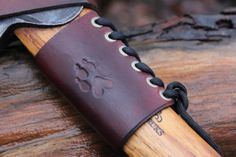 Handmade Small Forest Ax Collar in Leather with by PNWBushcraft