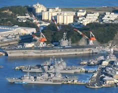 +yokuska japan | An aerial view of the U.S. Navy's Yokosuka Naval Base (Photo by Naoko ...