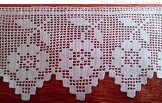 This Pin was discovered by Tat Crochet Boarders, Crochet Lace Edging, Crochet Cross, Crochet Home, Crochet Trim, Love Crochet, Crochet Doilies, Crochet Stitches, Crochet Flower Patterns