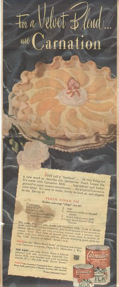 Carnation recipe from old magazine ad