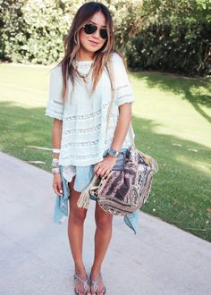 12 Coachella Outfits to Steal From Top Bloggers via @WhoWhatWear