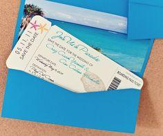Boarding Pass Wedding Invitation, Etsy