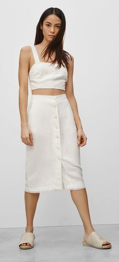 Our favorite skirt trend for spring and summer. The best button-front skirts to shop now.