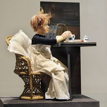 Helene Schjerfbeckin maalaus, Toipilas, on innoittanut Sirpa Ala-Loukoa. Desk, Furniture, Home Decor, Desktop, Decoration Home, Room Decor, Table Desk, Home Furnishings, Office Desk