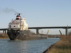 Welland Canal in St Catharines Ontario