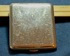 Vintage German Cigarette Case Marked VH 3.25 x 3.5 inch